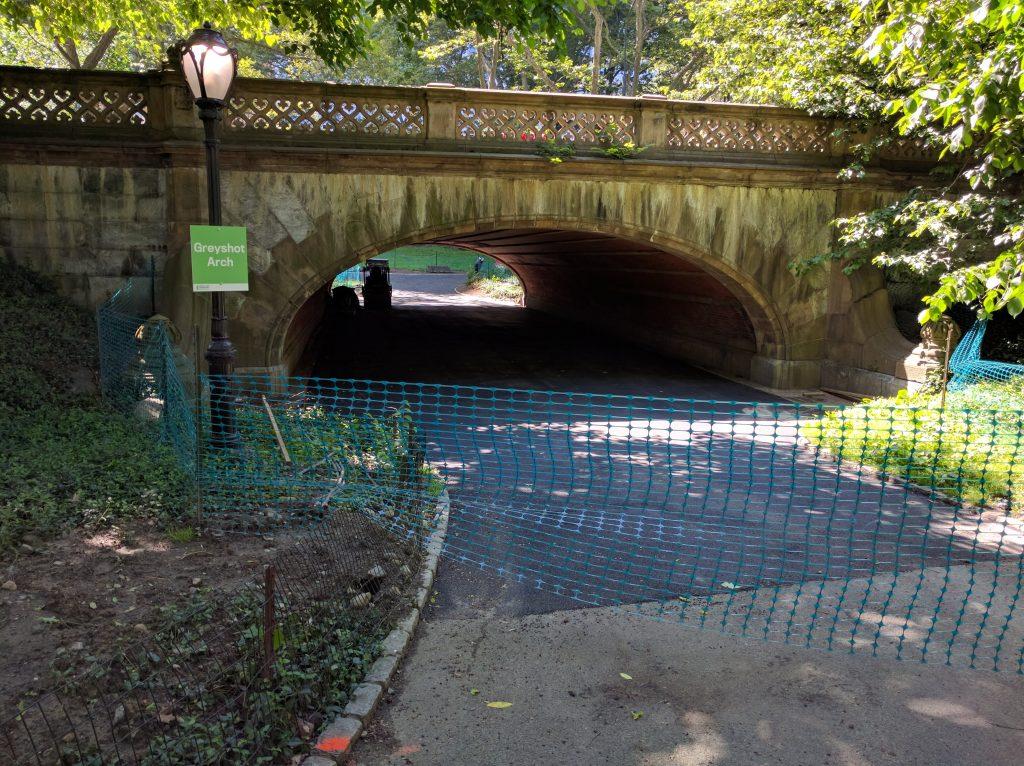 Construction at Greyshot Arch